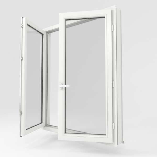 Pvc Fen Carre 3quarts Uni Blanc